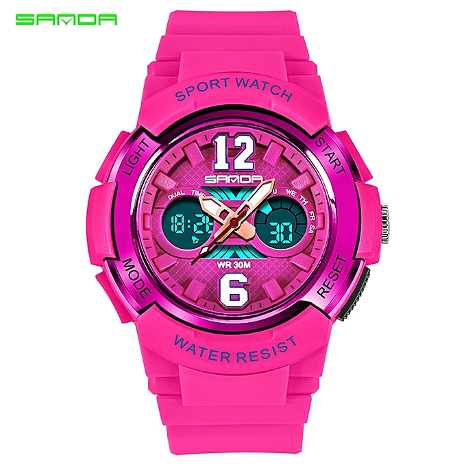 af3bf9910f SANDA Casual Fashion Quartz Watches Mens Sports Digital Watch Kids Girl  Shock Resistant Waterproof Clock Women Relogio Masculino (Red light) FCJMALL