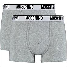 Men's 2-Pack Grey Cotton Trunks Underwear