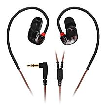Fashion KZ ATE-S Super Bass In-ear Earphones 3.5mm Jack Sport Earhook Design Foam Eartips(BLACK)