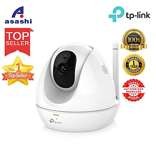 Tp-Link NC450 Pan/Tilt 300Mbps WiFi Cloud Camera, Day/Night view, 720p HD  resolution@30 fps, SD card storage IP Camera (White) WKMALL