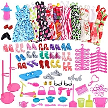 Henoesty 1Set Barbie Dress Up Clothes Lot Cheap Doll Accessories Handmade Clothing