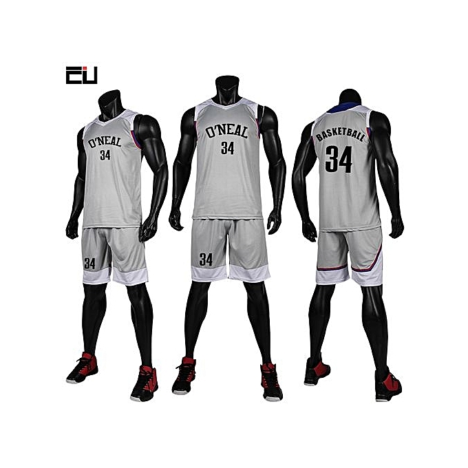 043bfb0d04f Children Boy And Men's Customized Basketball Team Sports Jersey Uniform-Grey (GY7304)