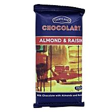Almond & Raisins Chocolart- 50g