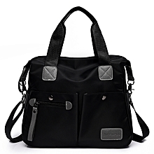 Fashion Large-capacity Shoulder Bag Portable Diagonal Backpack Handbag (Color:Black Size: + L)