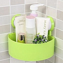 Wall Suction Cups Holder, Bathroom Shelf Shower Shampoo Soap Storage Rack -Green