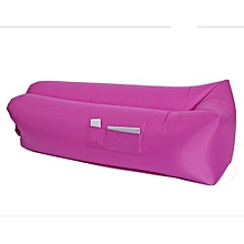 Inflatable Lounger, Portable Air Beds Sleeping Sofa Couch For Traveling, Camping, Beach, Park, Backyard With Bag Pocket - Pink