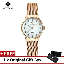 Top Luxury Brand Watch Famous Women's Fashion Quartz Watches Women Mesh Wristwatch Gift For Female