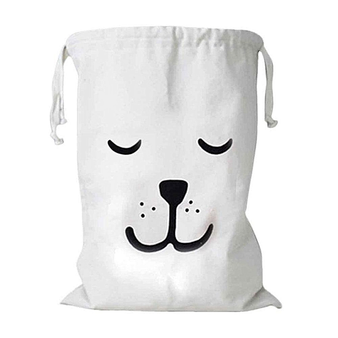 Canvas Laundry Bag Pawaca Large Cotton Drawstring Storage Organizer For Toys Clothes Home Baby