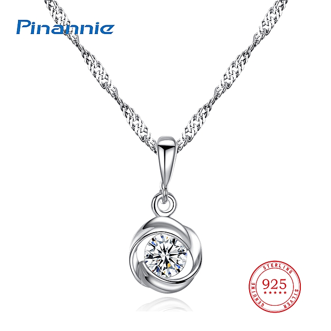 Women's White Gold Plated 925 Silver Necklace Jewellery