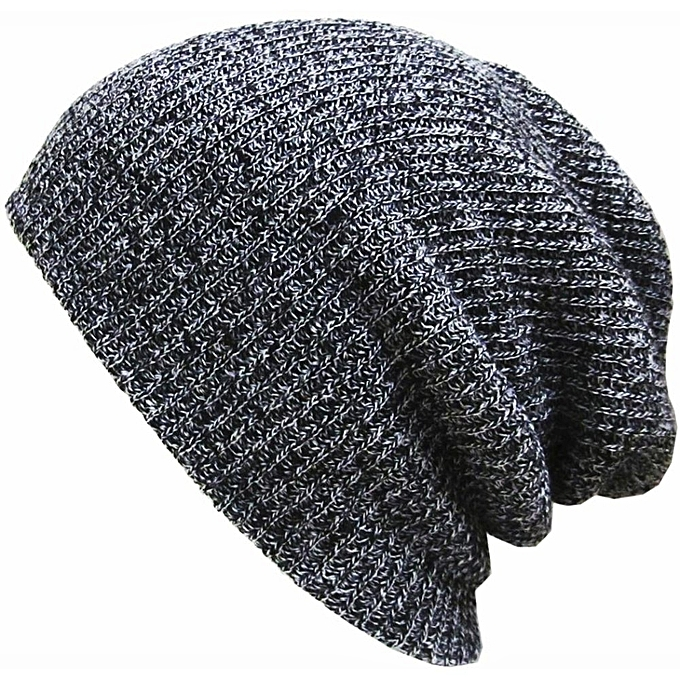 Unisex Knit Cotton Baggy Beanies Caps Crochet Slouchy Oversized Hats Warm  Skullies Toucas Caps Dark Grey 8da8bec8bc8