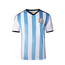Argentina National Team Jersey T-shirt  For Women (Blue/White)