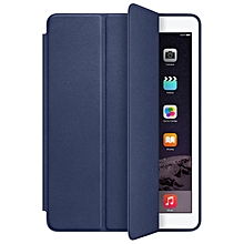 For iPad Air 2 Genuine Leather Smart Case Cover Slim Wake Dark Blue