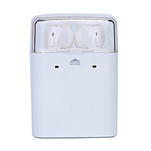 Wireless Bluetooth In-ear Earphones Stereo Headset for iphone 7 Airpods Android-White