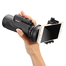 Telescope Lens Mobile Phone Camera +Tripod - Black