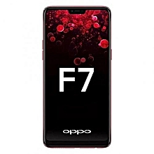 "F7 - 64GB Rom - 4GB Ram - 25MP Camera - 6.23"" FullView - 4G Dual Sim - Android 8 - RED"