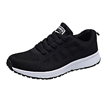 Generic Women Fashion Mesh Round Cross Straps Flat Sneakers Running Shoes Casual Shoes A1