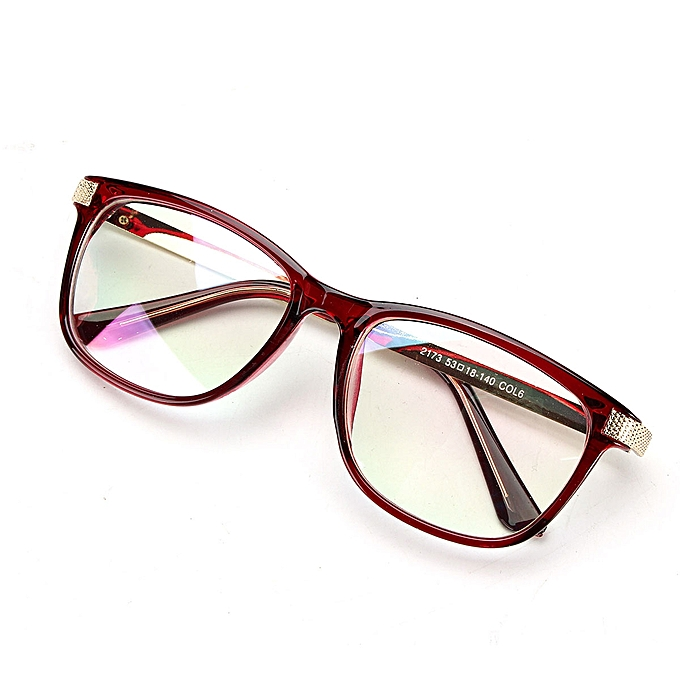 ca94b47feb3 Women Men Retro Eyeglass Frame Full-Rim Glasses Clear Lens Metal Designer  Unisex