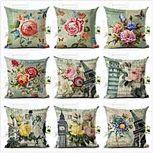 Honana HT-516 Flower Eiffel Tower Style Flower Pillow Case Cushion Cover Home Sofa Car Decor