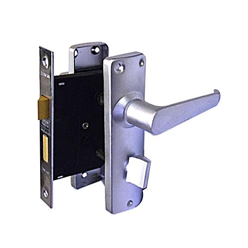 Union Bathroom Door Lock Silver
