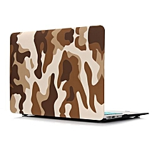 """11"""" Air Case, Desert Camouflage Hard Rubberized Cover For Macbook 11.6 Inch, Brown"""