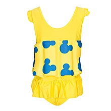 Yellow & Blue Swimsuit With Removable Floating Foams