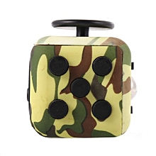 Fidget Cube Toy Relieve Stress, Anxiety And Boredom For Children And Adults Camouflage Green