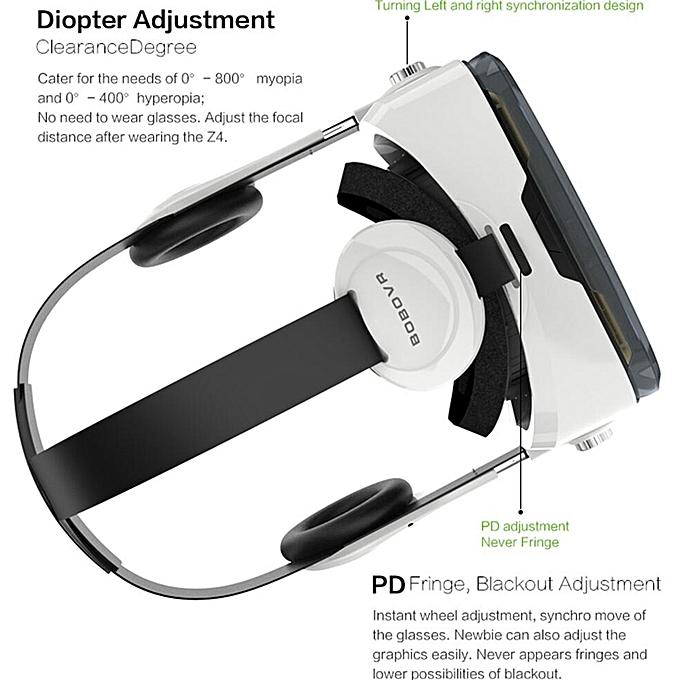 862195b65868 ... VR Z4 3D Cardboard VR Glasses Leather Helmet Virtual Reality VR Glasses  Stereo Headset Vr Box ...