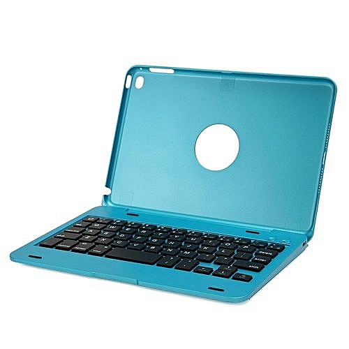 Bluetooth 3 0 Keyboard With Case Cover Slim USB Charging Cable Blue For  IPad Mini 4
