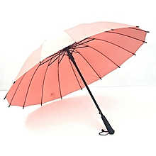 16 bone automatic straight handle umbrella men and women double business golf umbrella