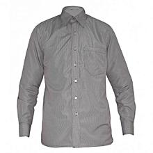 Brown Check Mens Long Sleeved Shirts