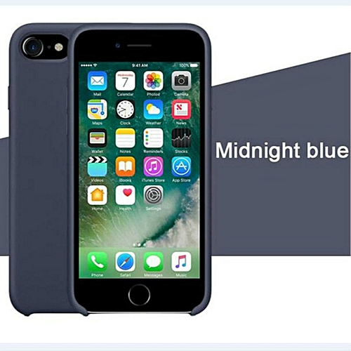 reputable site e62e8 86535 for iPhone X XS phone case Have LOGO Official Style Silicone Case For apple  Cover Capa-Midnightblue