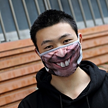 Funny 3D Human Face Mouth Mask Anti Dust Mouth Protector Windproof Half Face Masks