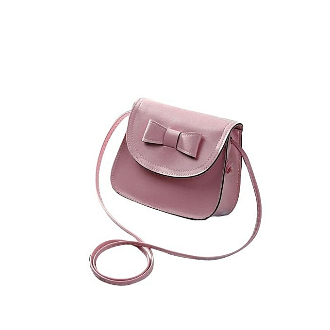 68824c2327ef bluerdream-Fashion Women Bowknot Leather Handbag Single Shoulder Messenger  Phone Bag PK- Pink