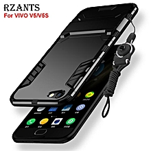Rzants For VIVO V5/V5S Case with Lanyard [Armor Series] Shockproof Kickstand Hard Back Cover