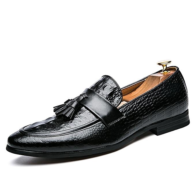 Buy Tauntte Tassel Retro Formal Shoes Men Crocodile Pattern Casual
