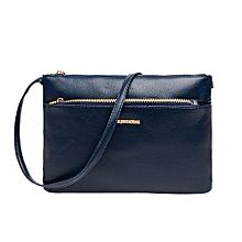 Women's Classic Leather Zipper Handbag Crossbody Shoulder Bags BU