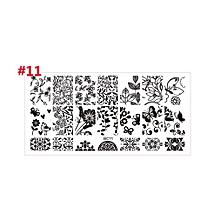 Nail Art Stamping Plate DIY Lace Flowers Beauty Stamp Polish Printing Nail Art #11