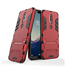 """For Nokia X6 5.8"""" Case Slim Hard Back Phone Case Robot Armor Protector Hybrid Rugged Rubber Cover For Nokia X6 Case"""
