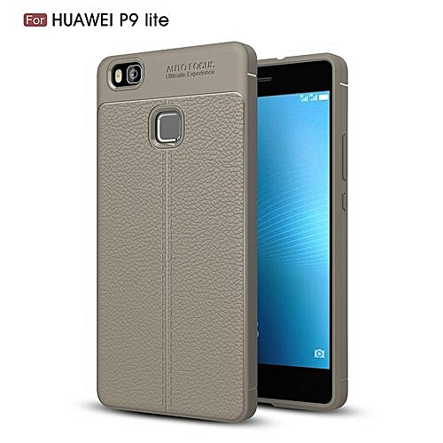 finest selection e5aae a5076 Huawei P9 Lite Silicone Case Litchi Pattern TPU Cover - Gray