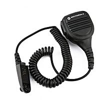 UJ Microphone Water Resistant Speaker for Motorola Walkie GP328 Two Way Radio-Black