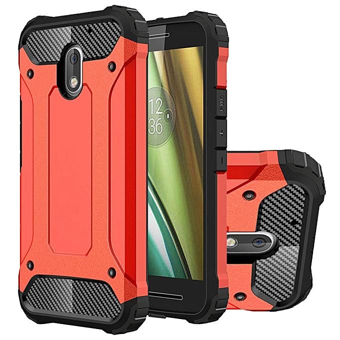 new style 71af2 b0e3e Case For Motorola Moto E Hybrid Full Body Heavy Duty Armor Dual Layer Shock  Absorbing TPU Protective Case Silver