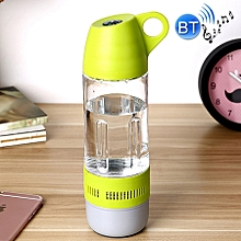 2 In 1 Portable And Essential Outdoor Supplies Hermetic 400ml Bicycle Sport Water Bottle Music Bluetooth Speaker For Mobile Phone and Mp3 and Mp4 and Psp With Bluetooth Function(green)