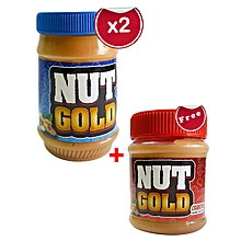 Creamy Peanut Butter x 2 - 500gms + FREE 250g Crunchy Pack