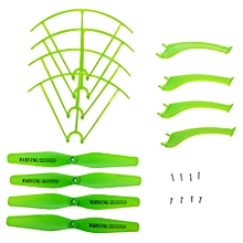 Landing Skid + Protection Frame / Propeller Set With Screw For X5HW X5HC RC Quadcopter - Green