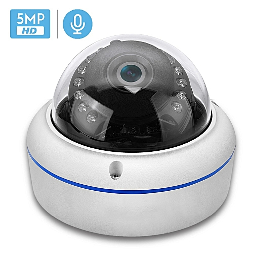 2MP 3MP 5MP Audio H265 IP Camera 2 8mm Vandalproof 48V POE CameraOnvif P2P  Motion Detect RTSP Email Alert POE CCTV Dome Camera(48V PoE 5MP)(6mm)