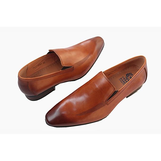 5719fc8946a Franco Banetti Men s Italian Designer Shoes - Brown   Best Price ...