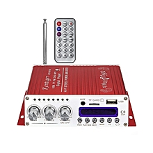 V10 - Audio Power Amplifier With Bluetooth, Hi-Fi Class-D Stereo - Red