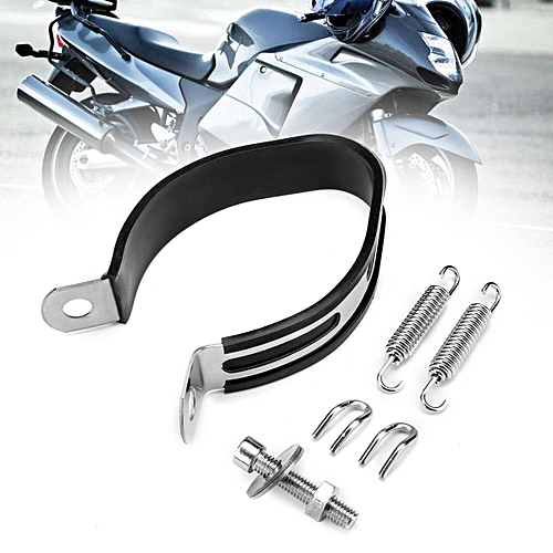 Motorcycle Exhaust Muffler Hanger Clamp Ring Stainless Steel Strap Mount  Bracket L Size