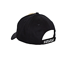 Black And Orange Baseball / Sports Hat With Kelele Color On Panel