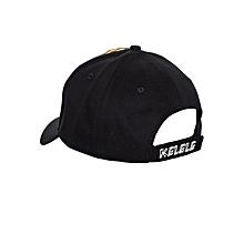 Black And Orange Baseball / Sports Hat With Kelele Color On Panel